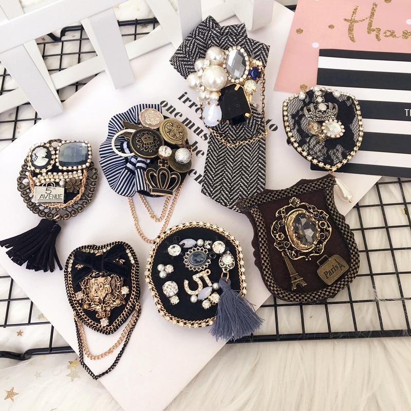 Женская Брошь для девочек, булавка, значок серии, большая металлическая клетка, кисточка, звезда, цепочка, пчела, оптовая продажа, пальто, корейская мода ручной работы, аксессуары-SWF