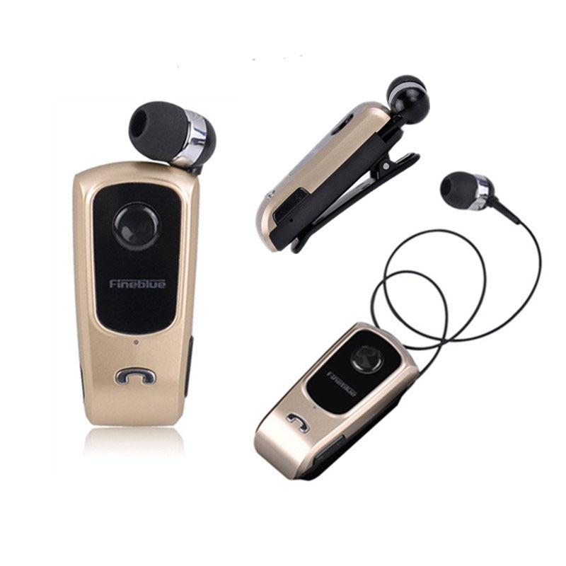 Auriculares inalámbricos Bluetooth fineblure F920 compatibles con llamadas vibración recordatorio de cuello Clip adornado auriculares con micrófono para teléfono