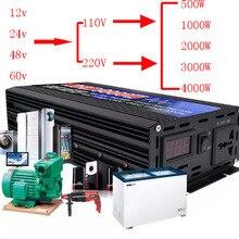 500W-6000 W Puro Inverter A Onda Sinusoidale DC12V-60 V Per AC220V/110V 50 HZ Convertitore di Potenza Booster Per Auto inverter