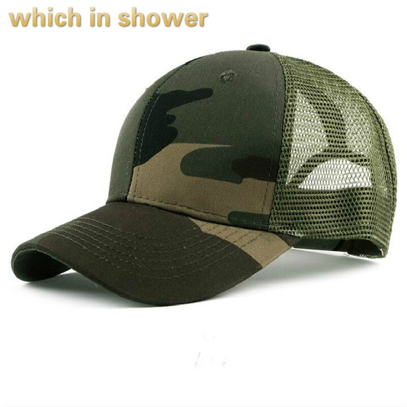 male camo mesh cap adjustable breathable summer baseball cap hip hop casual camouflage snapback hat