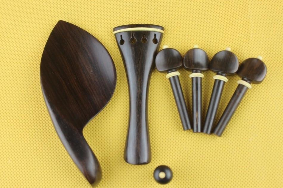 Novedad piezas de Violín de ébano Luthier de talla completa 4/4, accesorios...