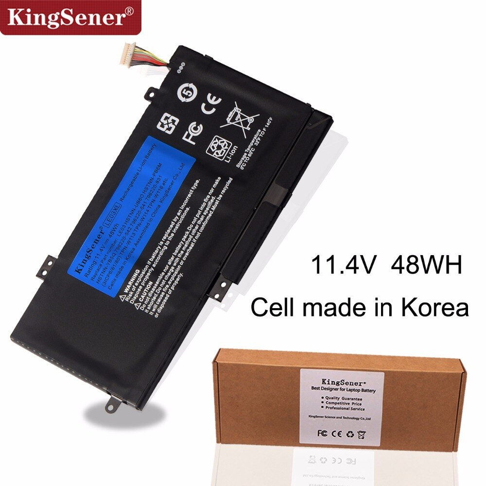 KingSener LE03XL LE03 Bateria Para HP ENVY X360 M6-W102DX W102DX 796356-005 HSTNN-YB5Q HSTNN-UB60 HSTNN-UB6O HSTNN-YB5Q/PB6M