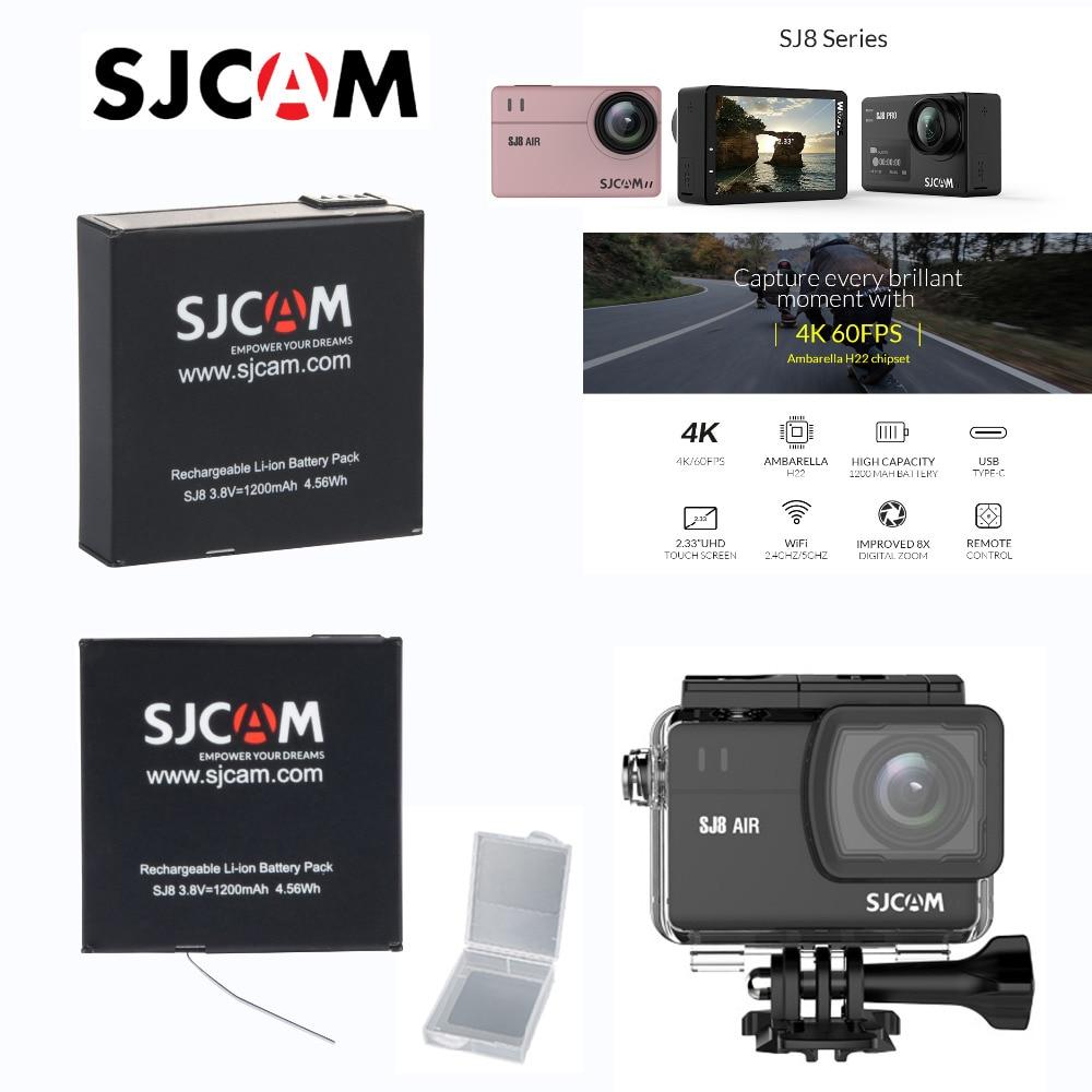 SJ8 Pro/SJ8 Plus/SJ8 Air Actioin 카메라 용 기존 SJCAM SJ8 시리즈 1200mAh 리튬 이온 추가 배터리