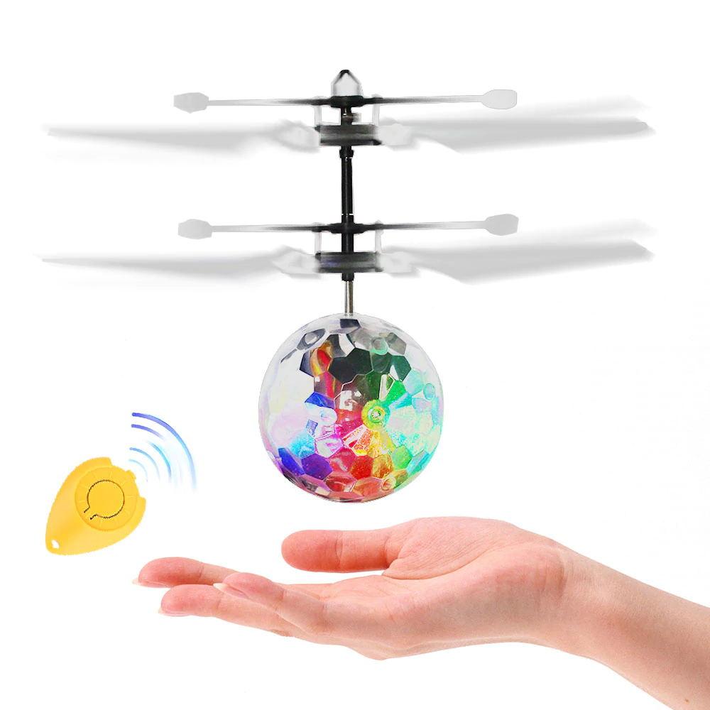 VICIVIYA Luminous Light-up Toys Glowing LED Magic Flying Ball Sensing Crystal Flying Ball Helicopter Induction Aircraft Toys