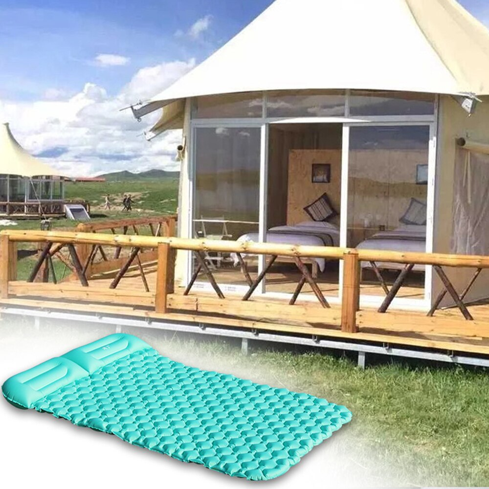 Barraca de acampamento Pessoa 2 Ar Esteiras Ao Ar Livre Piquenique Almofada de Dormir Inflável Praia Resto Colchão Macio CZ Estoque 24Hrs Grátis