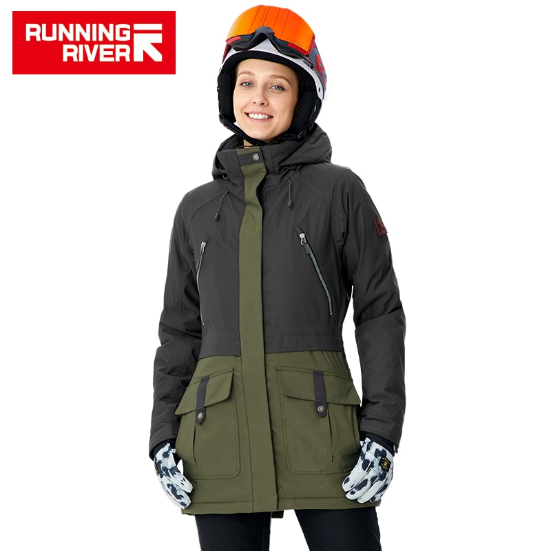 RUNNING RIVER Brand Women Snowboard Jackets For Winter Warm Mid-thigh Outdoor Sports Clothing High Quality Sport Jacket #A8010