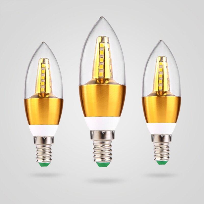 Lámpara de bombilla de filamento LED 220V bombillas LED Edison bombilla E14...