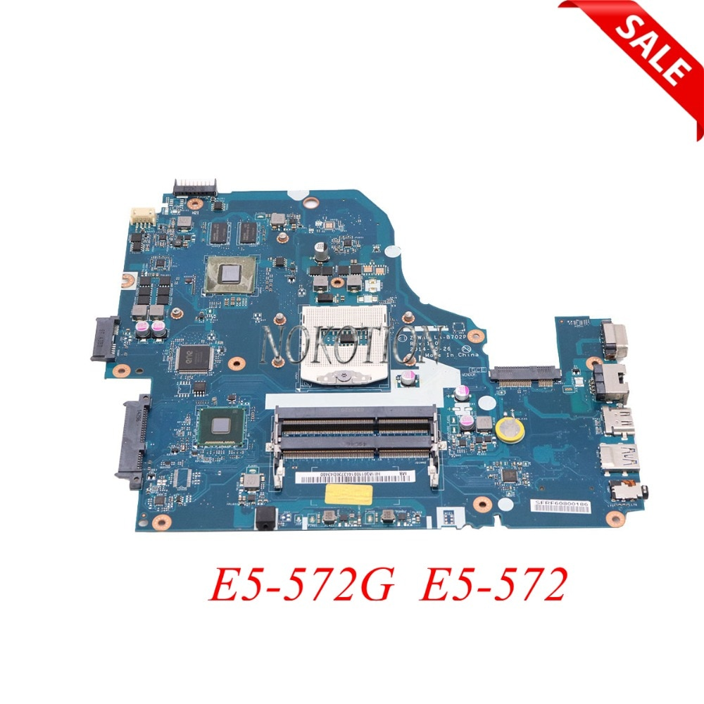 NOKOTION Z5WAW LA-B702P NBMQ011001 NB.MQ011.001 материнская плата для ноутбука acer aspire E5-572G E5-572 HM86 GT840M GPU