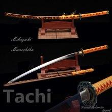 Réplique de samouraï japonais 1060 fait à la main   En acier à haute teneur en carbone, modèle nouveau 2017, Katana Mikazuki Munechika Odachi Tachi