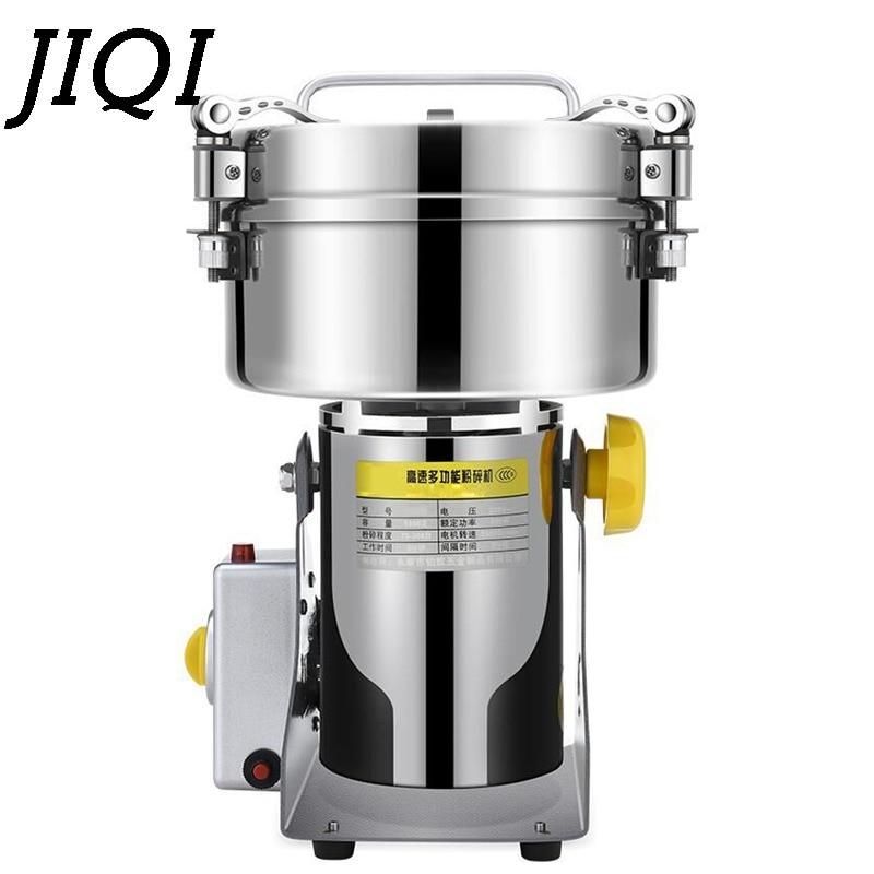 Molinillo de acero inoxidable martensítico JIQI 550W 1000g molinillo de grano para hogar multifuncional eléctrico fabricante de polvo ultrafino