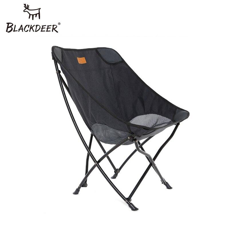 Silla plegable para exteriores BLACKDEER, silla sólida portátil de malla ligera transpirable para acampar, para Picnic, barbacoa, vacaciones en la playa