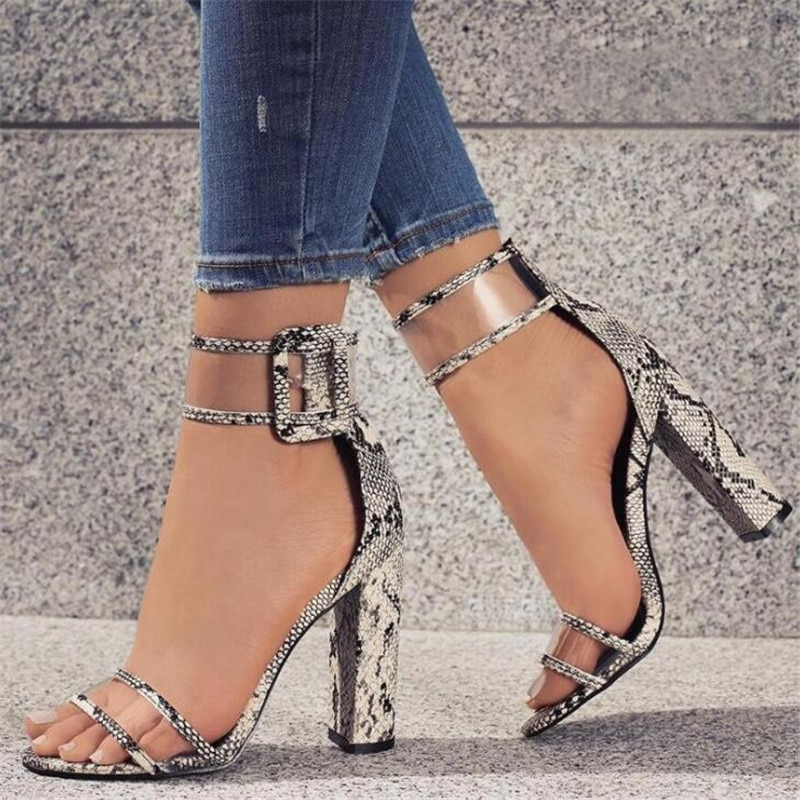 Zapatos de tacón alto para mujer, zapatos de baile sexis para fiesta de boda para mujer, zapatos de tacón con hebilla, zapatos sexis de leopardo para trabajar