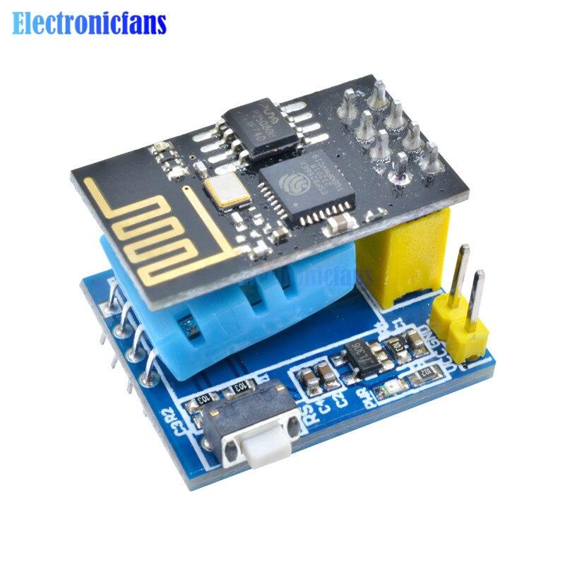 ESP8266 ESP-01 ESP01 Серийный беспроводной WIFI модуль DHT11 датчик температуры и влажности приемопередатчик приемник для Arduino NodeMCU DIY
