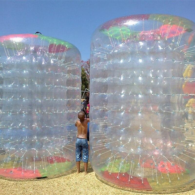 PVC Aqua Bola de rodillo en venta colorido bola inflable para caminar por el agua jardín pelota fuente inflable zorbs agua rodillos