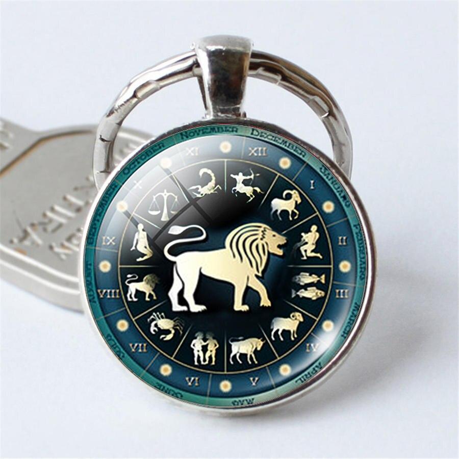 12 llaveros de constelación Aries, llaveros de Leo, pendiente de Virgo, cadenas del zodiaco, cabujón de constelaciones, regalo de cumpleaños