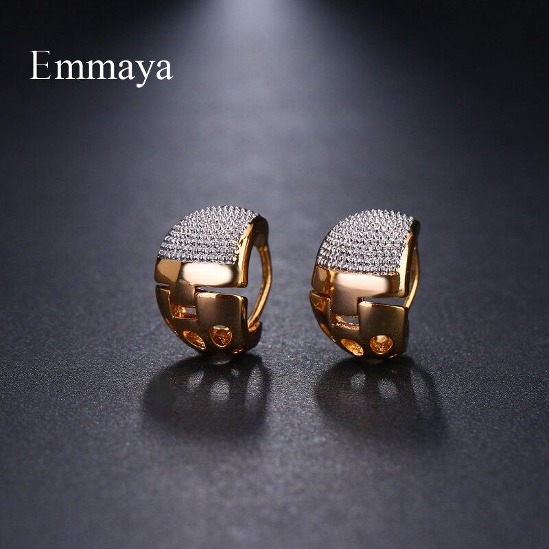 Emmaya brincos de elegância, joias de dois tons, originalidade, para mulheres, presente de festa de casamento na moda