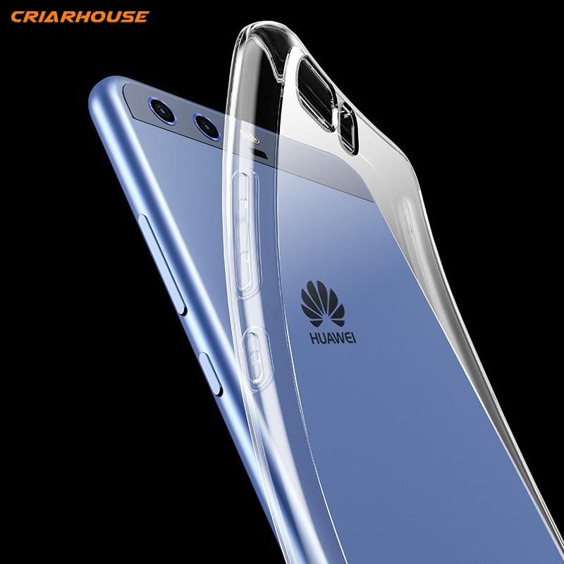 Para Huawei P9 P8 2017 P10 P10 lite Mini Honor 6C 6X 8 9 6A 7X P20 Pro P inteligente 10 teléfono caso tpu Gel de cristal transparente