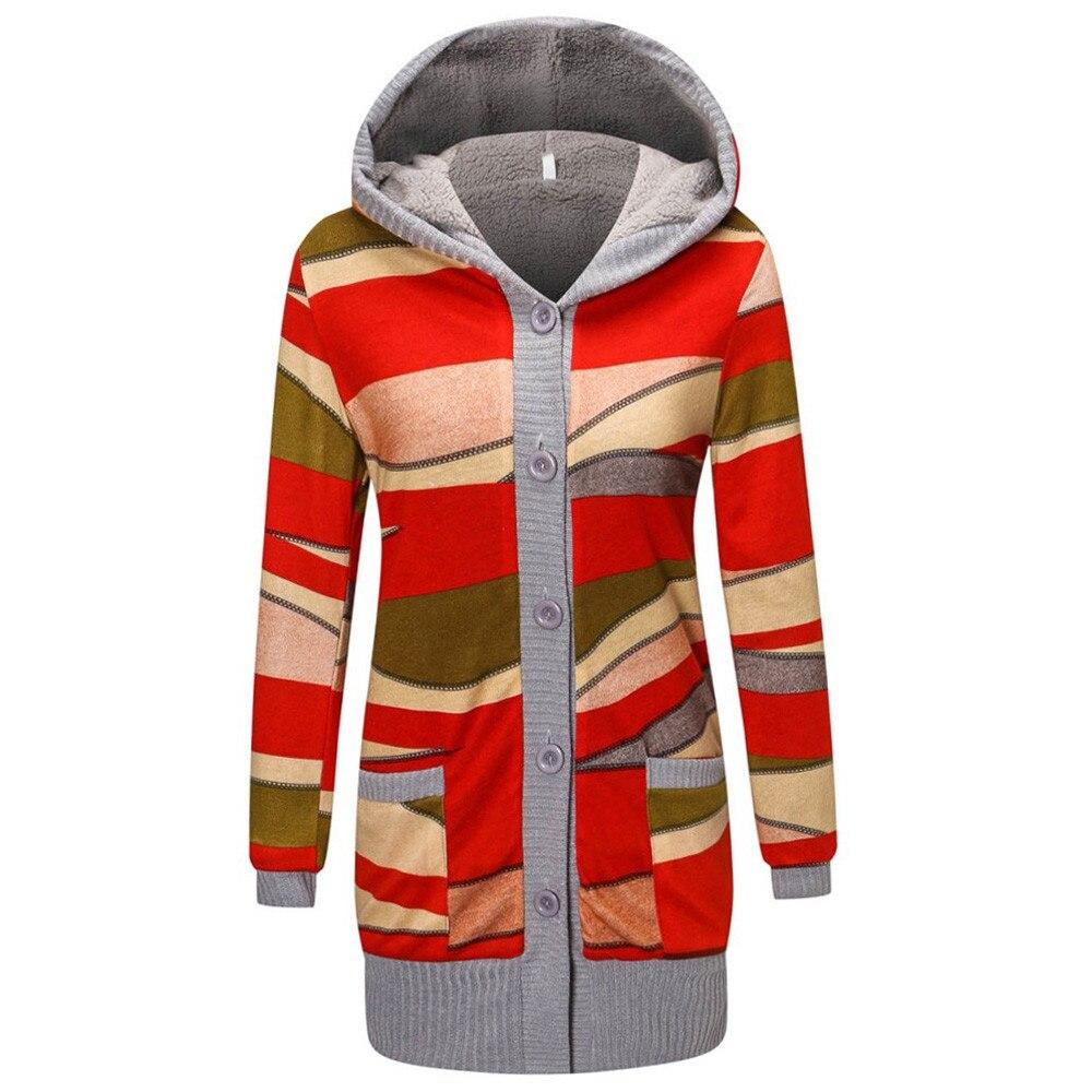 Chaqueta de invierno con capucha gruesa y cálida para mujer, abrigo informal con estampado de moda, Parka cálida para invierno, prendas de vestir, abrigo, chaqueta femenina A8