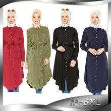 Di alta qualità di modo Lislamismo della ragazza top camicia casual a maniche lunghe camicette delle parti superiori per le donne vestiti musulmani 2013