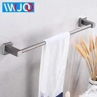 stainless steel towel bar single wall mounted bathroom towel rack hanging holder robe towel rail hanger shelf bathroom hardware