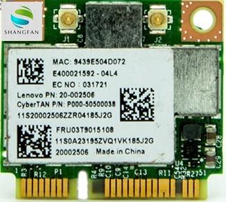 Broadcom BCM943227 BCM943227HM4L 802.11b/g/n 300Mbps Wifi inalámbrico de mitad de semestre Mini PCI-E tarjeta Wlan para Lenovo IBM Z370 Z570 Z475 B475
