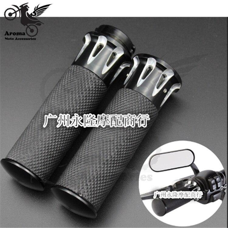 Manillar de motocicleta retro CNC de 26MM, negro de alta calidad para harley XL883 1200 X48, puño de motocicleta, empuñadura de moto
