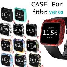 Smartwatch يغطي حالات ساعة ذكية بولي حقيبة حقيبة غطاء سيليكون ساعة الغلاف الحرس حامي ل Fitbit فيرسا الذكية الفرقة اكسسوارات