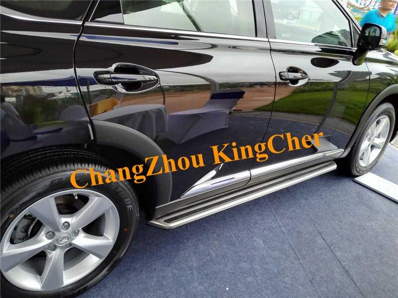 Tabla de Running de aluminio de alta calidad, escalones laterales, barra Nerf para LEXUS RX RX270 RX350 RX450 2009 2010 2011 2012 2013 2014 2015