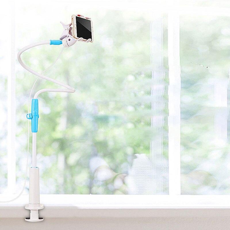 Soporte Universal Flexible para teléfono móvil con soporte para cama de brazo largo/soporte de Clip de escritorio para iPhone/Xiaomi/ samsung