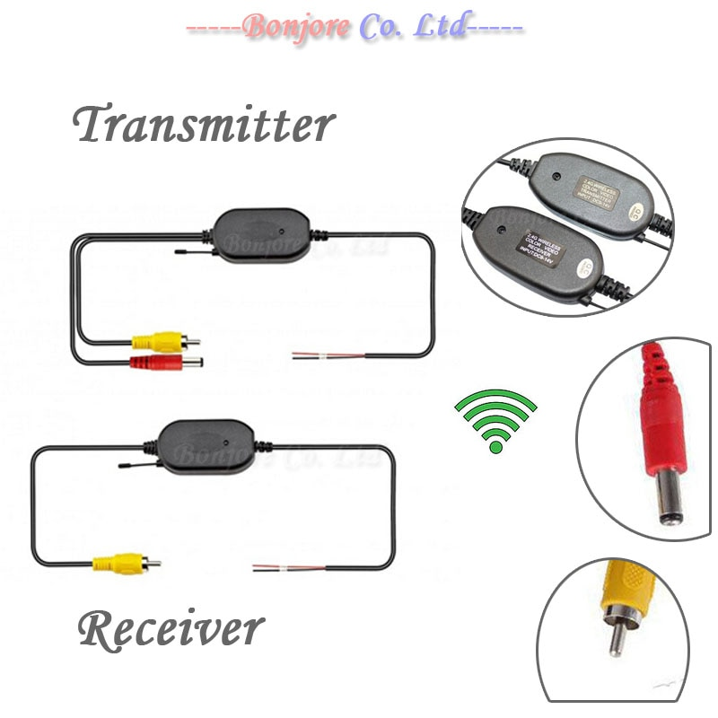 2,4G беспроводной передатчик и приемник на задний вид автомобиля резервная камера и монитор парковочная помощь
