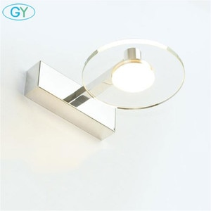 Modern 5W AC 85V-265V Aluminum LED Mirror Front Light LED Bathroom Clear Crystal Wall Light warm white cool white vanity lamp