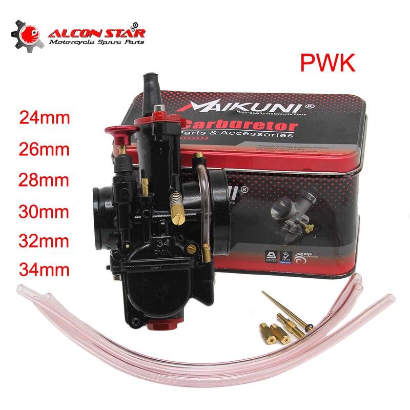 Alconstar PWK 26 28 30 32 34mm carburador con poder Jet Buggy ATV Quad Go Kart motocicleta partes de carreras de Scooters