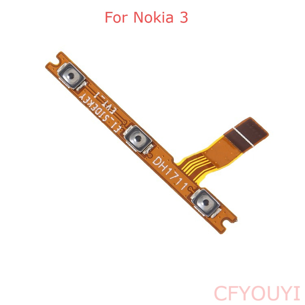 For Nokia 3 Power Button On/Off key & Volume Buttons Flex Cable Replace Part