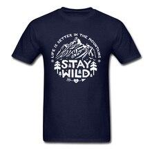 Montagne forêt randonnée T-Shirts rester sauvage Nature paysage Twin pics vitesses T-Shirt pour hommes liberté Massif 3D imprimé T-Shirt