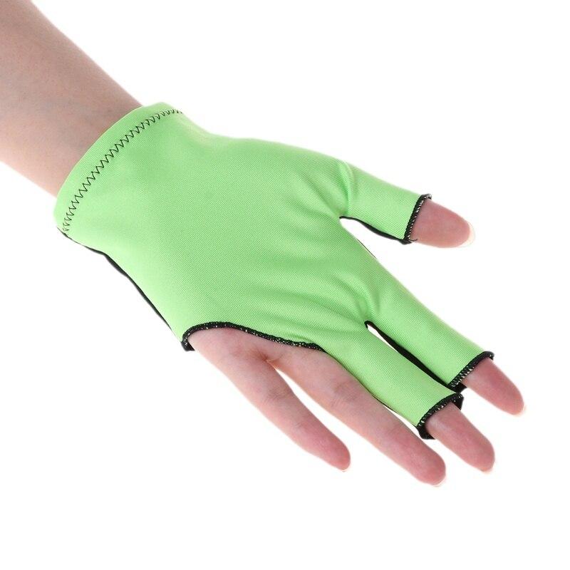 1Pc tela de Lycra directo guantes evitar dedo arañazos de billar guante piscina izquierda mano guantes billar Accesorios