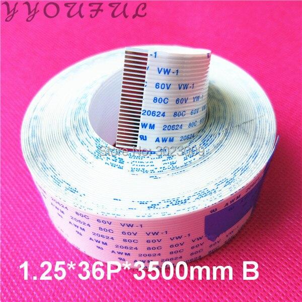 Plotter Digital Roland FFC cable de datos plano para FJ540 FJ740 SJ745 RS640 placa principal cable de datos largo 36 pines (1,25*36 P * 3500mm B)