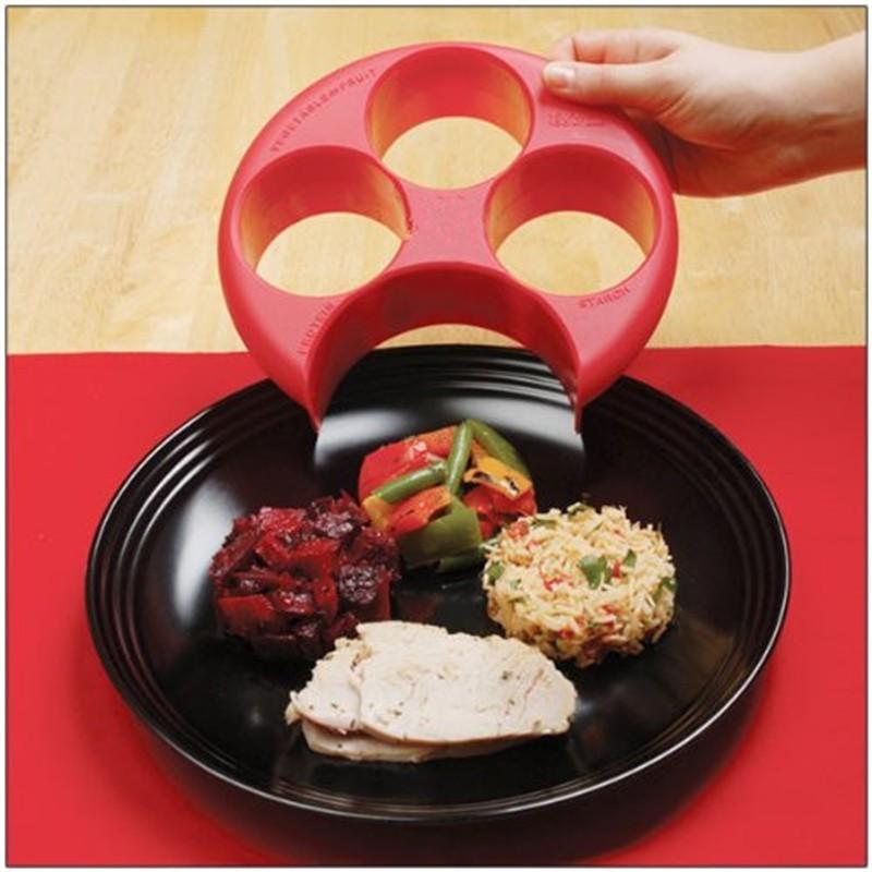 Новая здоровая красная мера для еды, идеальная пластинка для контроля веса, диета для похудения, естественная управляемая контрольная пластина PC889543
