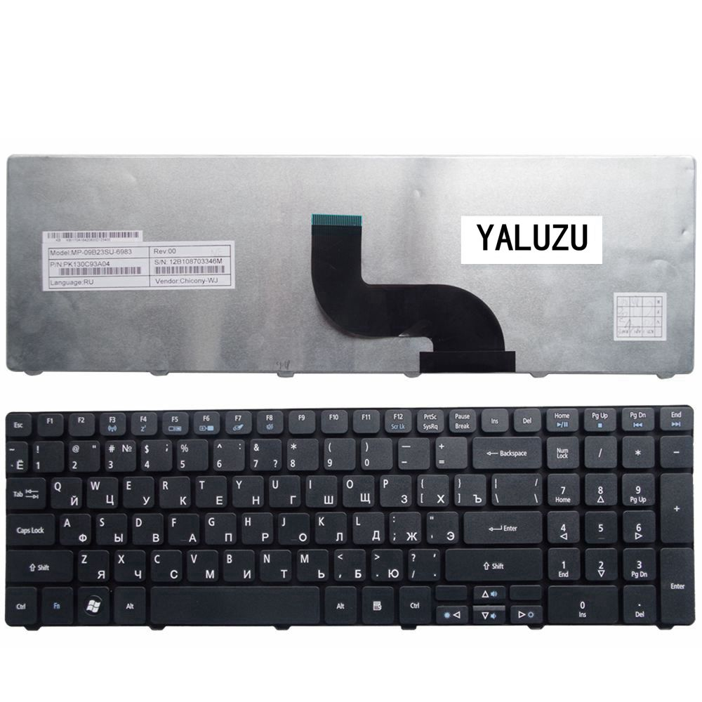 YALUZU Новая русская клавиатура для ноутбука Acer для Aspire 7552G 5739G 5740D 5738DG 7745ZT 5738DZG 5738PG 5738PZG 5740DG RU Клавиатура