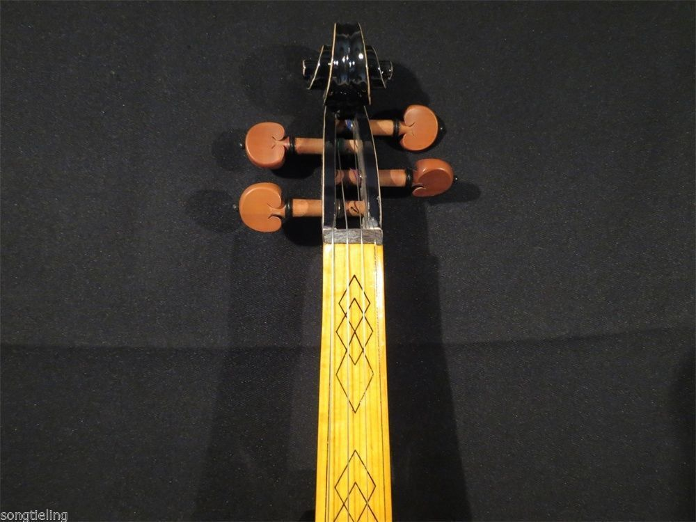Newly model Best SONG Brand Top art Crazy-2 black color 4/4 electric violin enlarge