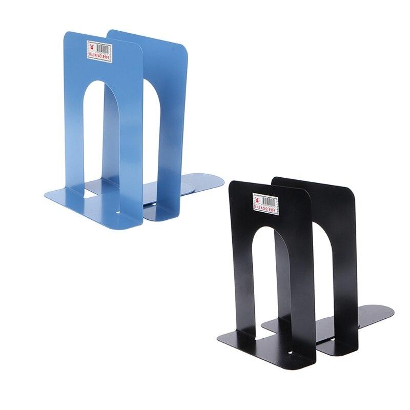 Sujetalibros de Metal de estilo Simple, soporte de hierro, soportes de escritorio antideslizantes para libros