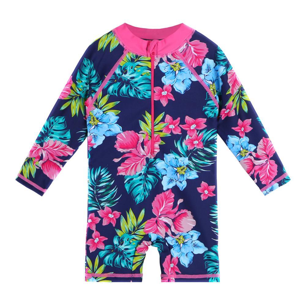 Baohulu criança da menina do bebê banho upf 50 + flor marinha crianças meninas de manga longa maiô uma peça para criança