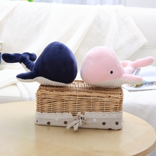 1pc 20cm New Blue Pink Whale Plush Toys Cartoon Stuffed Soft Animal Toy Kawaii Fish Birthday Christmas Gift for Children Girls