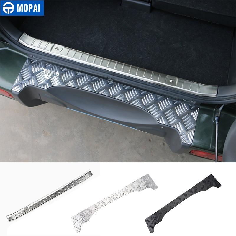 Стальная Накладка на порог MOPAI, защитная накладка для салона автомобиля, заднего бампера, задняя внутренняя защитная пластина для Suzuki Jimny, ав...