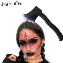 Хэллоуин DIY реквизит, ужасные вечерние уличные украшения, шприц, ножничный топор, ножом, головная одежда, забавные повязки, игрушки, принадле...