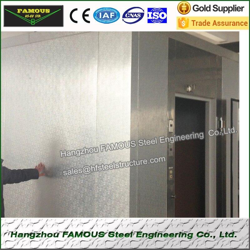 Stucco en relieve de aluminio de almacenamiento en frío PU Panel