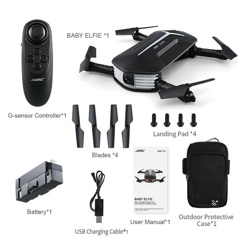 JJRC H37 كاميرا سيلفي ايلفي المصغرة للطفل 720P واي فاي FPV خاصية تثبيت الارتفاع بدون رأس قابلة للطي RC طائرة بدون طيار كوادكوبتر RTF VS H36 E010