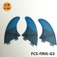 Surf Fins FCS G3 Quilhas Finss 4 color Honeycomb Fibreglass Fin