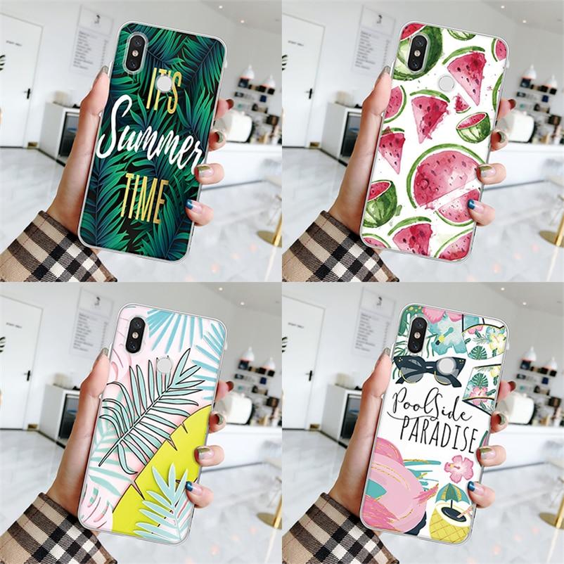 TPU Flowers Fundas For Coque Xiaomi Redmi 7 4X 3S 4A 5 Plus 6A Go S2 Note 3 4 5 4X 5A 6 7 Pro Summer Cover For Redmi Note 7 Case