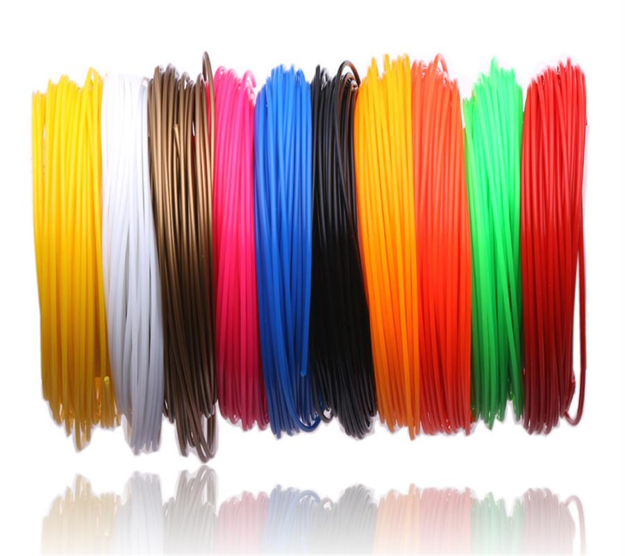 3 D 200 metros o 10 metros/Color 1,75mm Material PLA filamento 3D PLA para bolígrafo 3D plástico bolígrafos 3D suministros de Color