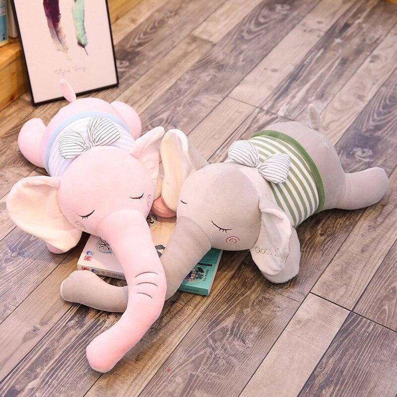 Elefante Kawaii de 25cm de peluche para niños, juguetes para niñas, regalo de cumpleaños, Navidad, adorable elefante de peluche